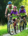 Mountainbikerfamilie